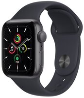 Смарт-годинник Apple Watch SE Space Gray 40mm Midnight Sport Band