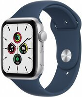 Смарт-часы Apple Watch SE Silver 44mm Abyss Blue Sport Band