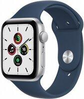 Смарт-годинник Apple Watch SE Silver 44mm Abyss Blue Sport Band