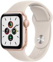 Смарт-годинник Apple Watch SE Gold 44mm Starlight Sport Band