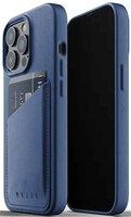 Чехол MUJJO для iPhone 13 Pro Wallet Full Leather Monaco Blue (MUJJO-CL-016-BL)