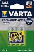 Аккумулятор VARTA Rechargeable ACCU. AAA 1000mAh NI-MH 4шт. (READY 2 USE)