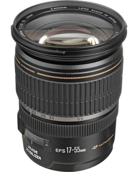 Объективы, Объектив Canon EF-S 17-55 mm f/2.8 IS USM (1242B005)  - купить со скидкой