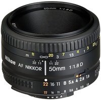 Объектив NIKON AF 50 mm f/1.8D (JAA013DA)