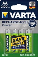 Аккумулятор VARTA RECHARGEABLE ACCU AA 2100mAh BLI 4 NI-MH (READY 2 USE) (56706101404)