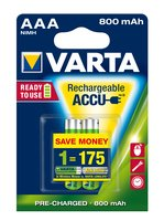 Аккумулятор VARTA RECHARGEABLE ACCU AAA 800mAh BLI 2 NI-MH (READY 2 USE) (56703101402)