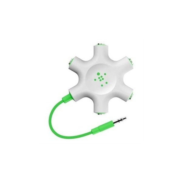 Розгалужувач для навушників (jack 3.5мм   jack 3.5мм x5) Belkin Rockstar  Green 47c4e93b129b7
