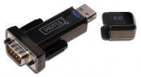Адаптер DIGITUS USB 2.0 to RS232, black (DA-70156)