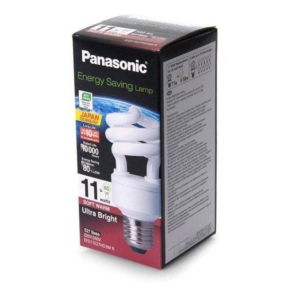 Энергосберегающая лампа Panasonic 11W (60W) 2700K E27 (EFD11E27HD3MR) фото