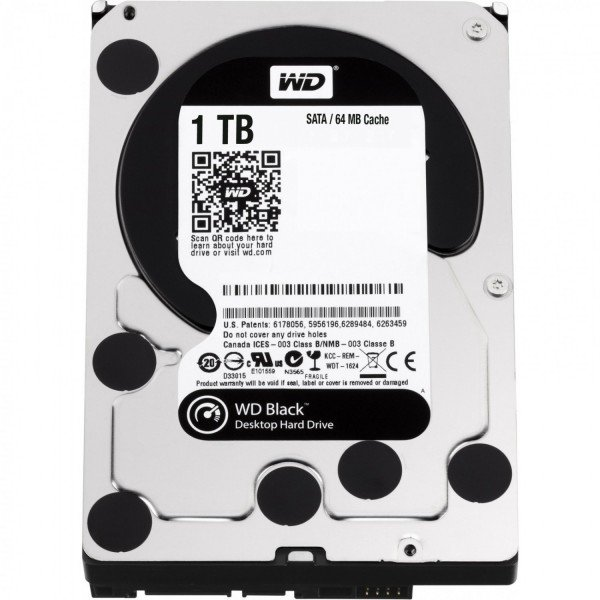 Жесткий диск внутренний WD 3.5 SATA 3.0 1TB 7200rpm 64Mb Cache Black (WD1003FZEX)  - купить со скидкой