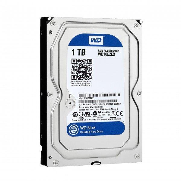 Купить Жесткий диск внутренний WD 3.5 SATA 3.0 1TB 7200rpm 64MB Cache Caviar Blue (WD10EZEX)