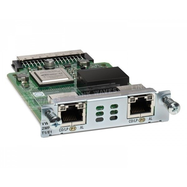 Модуль Cisco 2-Port 3rd Gen Multiflex Trunk Voice/WAN Int. Card - T1/E1 (VWIC3-2MFT-T1/E1=) фото 1