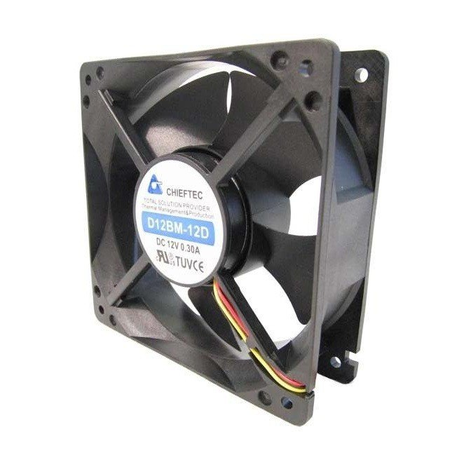 Корпусный вентилятор CHIEFTEC Thermal Killer AF-1238B,120мм,2300 об/мин,3pin/Molex,42dBa (AF-1238B) фото
