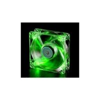 Корпусный вентилятор Cooler Master BC 80 LED FAN, 80мм,1800об/мин,3pin,19dBA,4xLED,зеленая подсветк (R4-BC8R-18FG-R1)