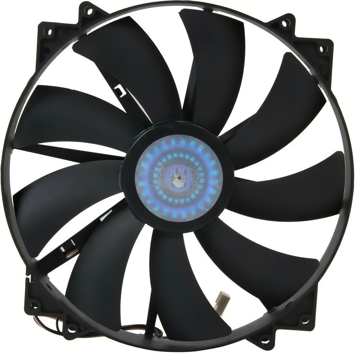 Корпусний вентилятор Cooler Master MegaFlow 200 Silent Fan, w/o LED, 200мм, 3pin+Molex (R4-MFJR-07FK-R1)фото