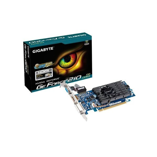 Купить Видеокарты, Видеокарта GIGABYTE GeForce GT 210 1GB DDR3 (GV-N210D3-1GI)
