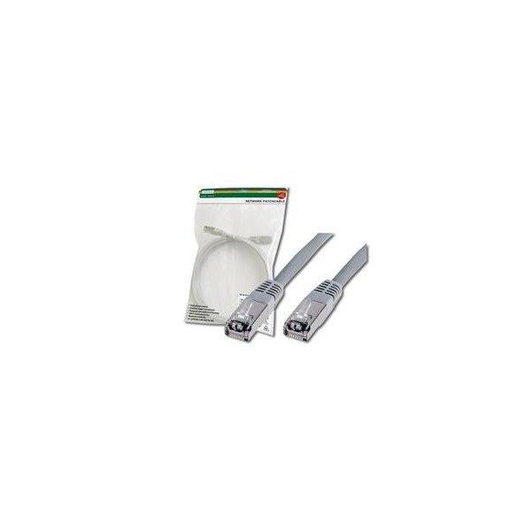 Купить Компьютерный кабель патчкорд DIGITUS cat.5e, SF-UTP, 0.5м, AWG 26/7, серый (DK-1531-005)