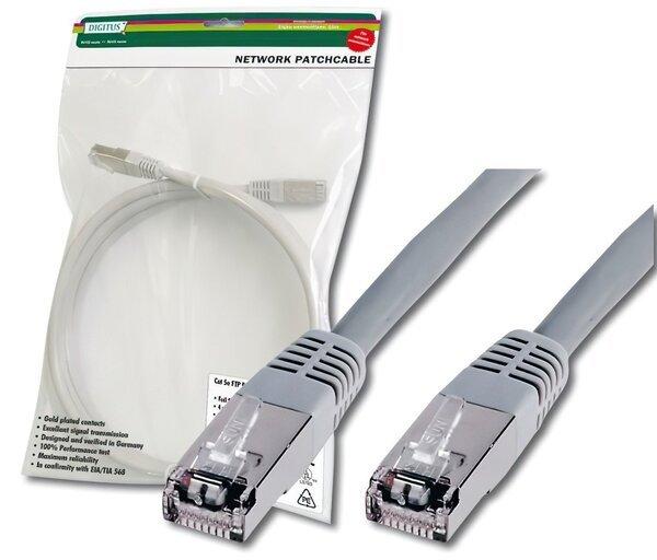Купить Кабели, Компьютерный кабель патчкорд DIGITUS cat.5e, SF-UTP, 3м, AWG 26/7, серый (DK-1531-030)