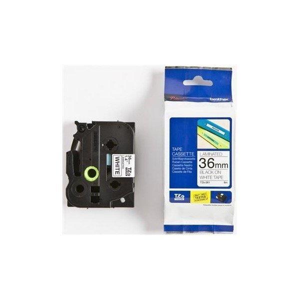 Купить Картриджи к лазерной технике, ЛентаBrother36mmLaminatedwhite, Printblack(TZE261)