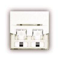 Лицевая панель 3M keystone 45*45 2 порта белая FQ100077798 (FP4MF2KND)
