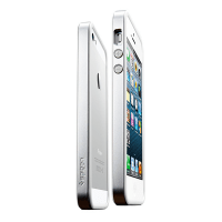 Чехол SGP для iPhone 5/5S/SE Case Neo Hybrid EX Slim Metal Series Satin Silver
