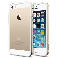 Чехол SGP для iPhone 5/5S/SE Case Neo Hybrid EX Slim Metal Series Champagne Gold