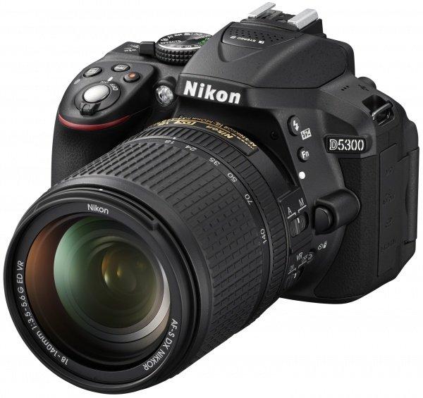 Купить Фотоаппараты, Фотоаппарат NIKON D5300 18-140 VR (VBA370KV02)