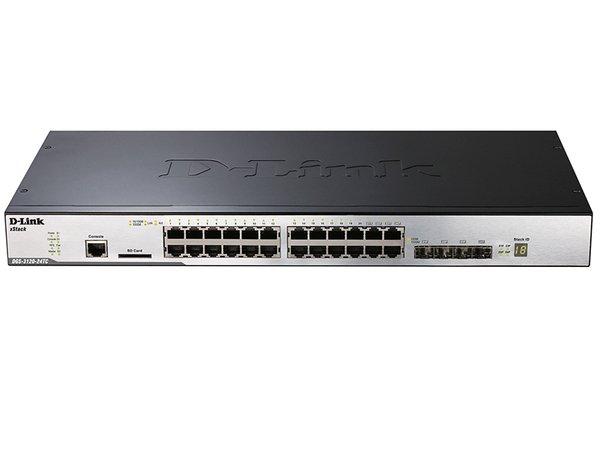 Купить Коммутаторы управляемые, Коммутатор D-Link DGS-3120-24TC/B1ARI L3 20port 10/100/1000. 2-Combo/SFP, 2-10G-CX4, Routed Image (DGS-3120-24TC/RI)