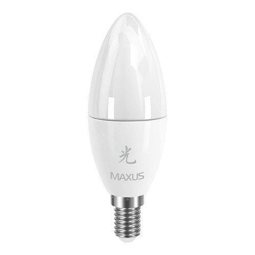 Светодиодная Лампа Maxus LED-283 C37 CL-F 5W 3000K 220V E14 AL (1-LED-283) фото