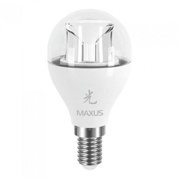 Светодиодная лампа MAXUS G45 6W 3000K 220V E14 AP (1-LED-435) фото