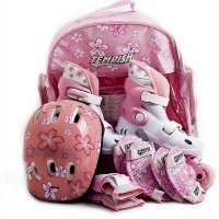 Раздвижные роликовые коньки Tempish 1000000003 Baby skate розовые, р.34-37