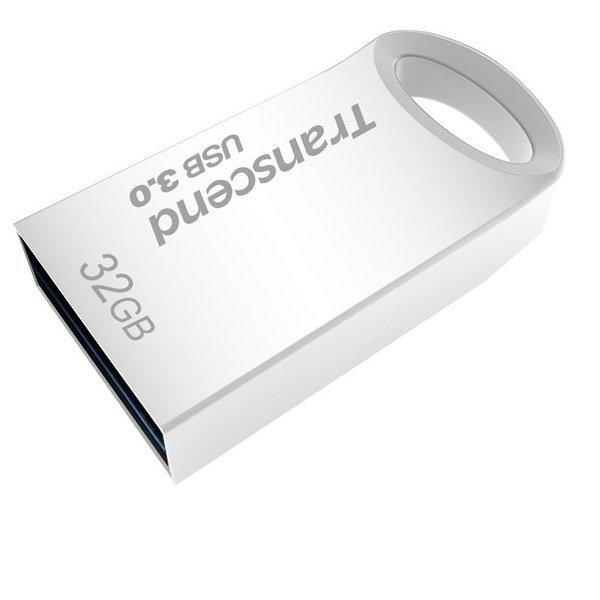 Накопичувач USB 3.0 TRANSCEND JetFlash 710 32GB Metal Silver (TS32GJF710S) фото