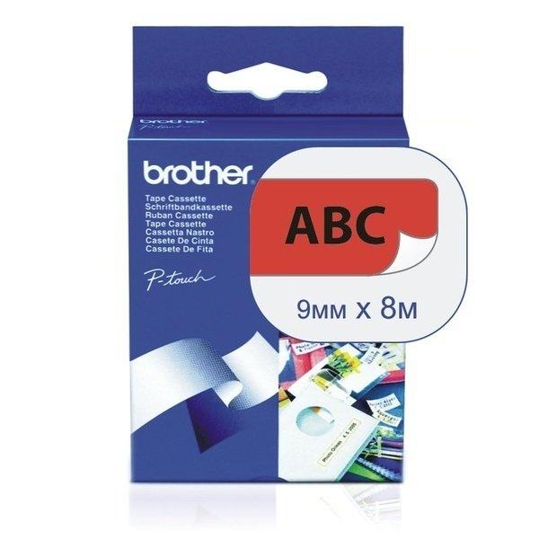 Купить Лента Brother 9mm ламинированная, черный на красном (TZE421)