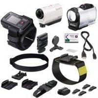 Экшн-камера SONY HDR-AZ1V + пульт д/у RM-LVR2 + BLT-UHM1 + AKA-WM1 (HDRAZ1VW.CEN)