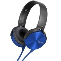 Наушники Sony MDR-XB450 AP mic Blue