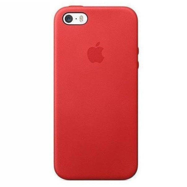 ≡ Чохол Apple Leather Case для iPhone 5 5S SE Red (MF046ZM A ... d15ac4c2b68e4