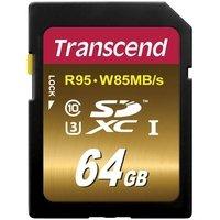 Карта памяти TRANSCEND SDXC 64GB Class 10 Ultimate UHS-I U3 R95/W85 MB/s (TS64GSDU3X)