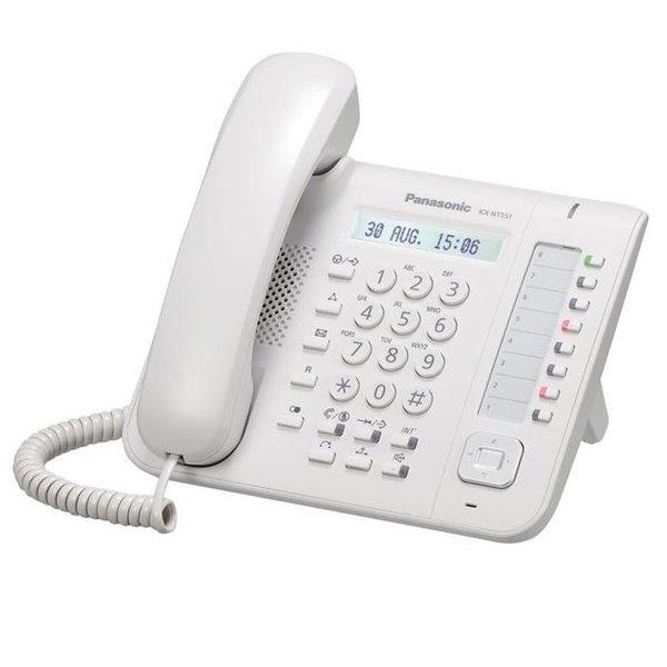Купить IP-телефон Panasonic KX-NT551RU White для АТС Panasonic KX-TDE/NCP/NS