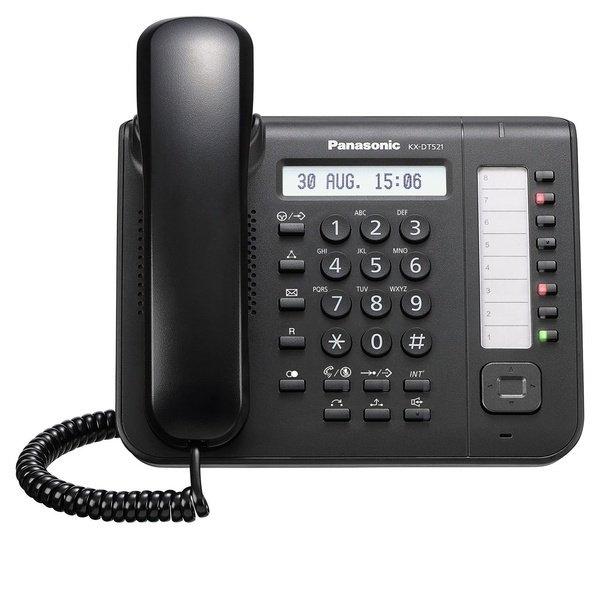 Купить Системные телефоны, Системный телефон Panasonic KX-DT521RU Black (цифровой) для АТС Panasonic