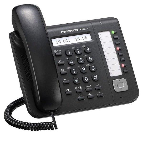Купить Системные телефоны, IP-телефонPanasonicKX-NT551RU-BBlackдляАТСPanasonicKX-TDE/NCP/NS