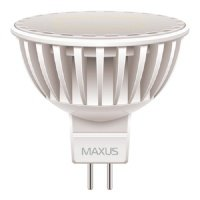 Светодиодная Лампа MAXUS MR16 4W 3000K 220V GU5.3 AP (1-LED-295) (1-LED-295)