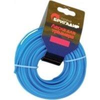 Волосінь для мотокоси Бригадир, синя 2,4 мм