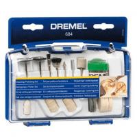 Комплект насадок для чищення та полірування Dremel 684