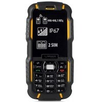 Мобильный телефон-Рация Sigma Х-treme DZ67 Travel Yellow-Black