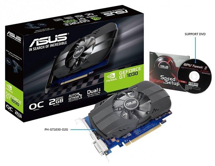 ≡ Видеокарта ASUS GeForce GT 1030 2GB GDDR5 OC (PH-GT1030-O2G ...