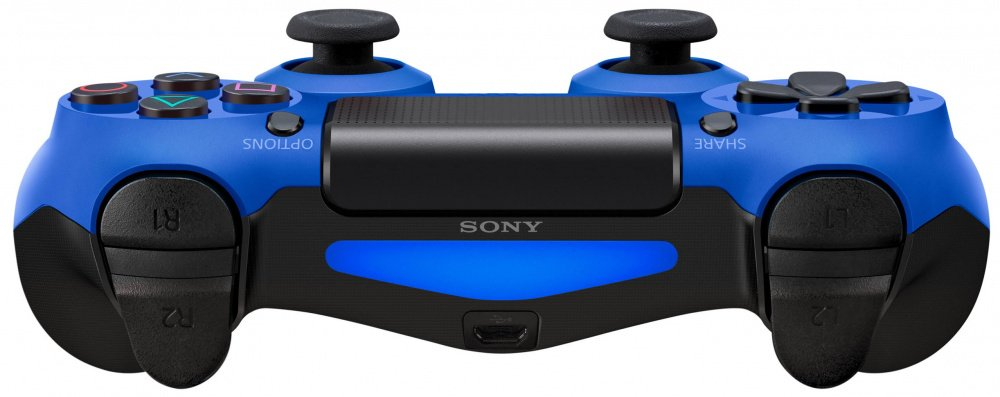 Беспроводной геймпад SONY Dualshock 4 V2 Wave Blue для PS4