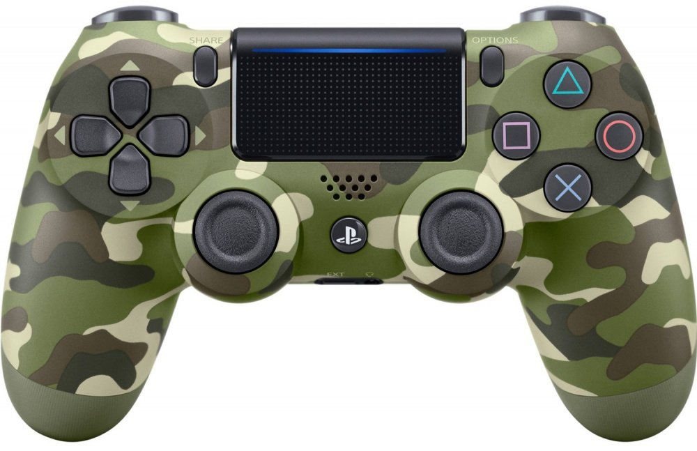 Беспроводной геймпад SONY Dualshock 4 V2 Green Cammo для PS4