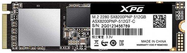 SSD накопитель ADATA XPG 8200 Pro 512GB M.2 PCIe 3.0 x4 2280 3D TLC (ASX8200PNP-512GT-C)