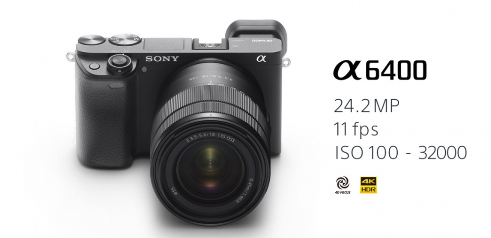 Фотоаппарат SONY Alpha a6400 + 18-135