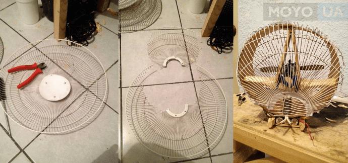 высокомощный вентилятор из аккумулятора дрели